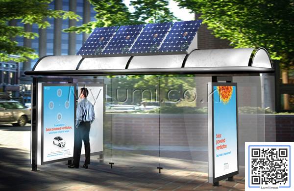 Lumispace 태양광 조명 버스 승강장 Led 조명시설