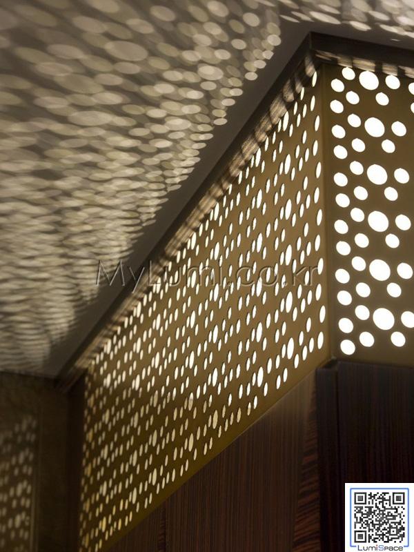 lumispace: 패턴을 이용한 발광 실내 조명디자인