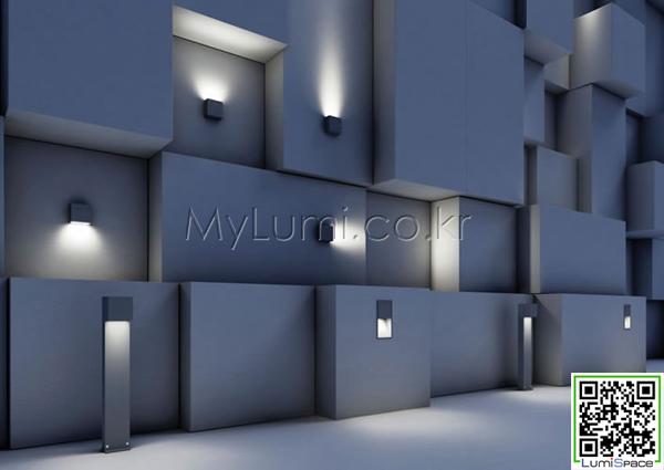 lumispace: 맞춤 사각 디자인 벽등